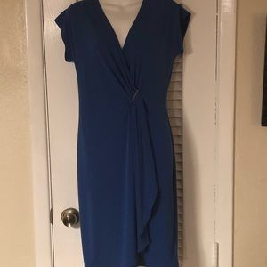 Michael Kors royal blue faux wrap dress